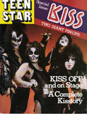 "1978 KISS U.S.ORIGINAL 'TEEN STAR No. 2"" GIANT FOLD-OUT POSTER MAGAZINE W/BIG KISS STORIES! COMPLETE! NrMINT!"