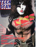 "1978 KISS U.S.ORIGINAL 'TEEN STAR No. 1"" GIANT FOLD-OUT POSTER MAGAZINE W/BIG KISS STORIES! COMPLETE! NrMINT!"