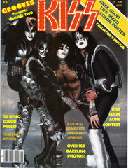 "1978 June KISS U.S.ORIGINAL 'GROOVES"" MAGAZINE with 100% KISS! COMPLETE with GIANT KISS POSTERS! MINT!"
