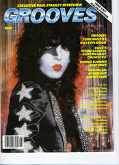 "1979 May KISS U.S.ORIGINAL 'GROOVES"" MAGAZINE W/BIG KISS STORIES! COMPLETE with POSTER! MINT!"