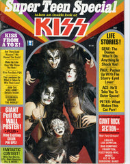 "1977 KISS U.S.ORIGINAL 'SUPER TEEN SPECIAL"" MAGAZINE with 75% KISS! COMPLETE with PULL-OUT POSTER! EX+++!"