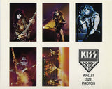 "1976 AUCOIN MANAGEMENT, INC.  (Uncut) ""KISS ARMY WALLET SIZE PHOTOS!"" MINT!"