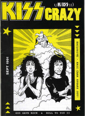 "1991 September U.K. IMPORT OFFICIAL 'KISS CRAZY"" FANZINE No. 11"" COMPLETE! MINT!"