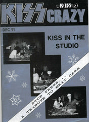 "1991 December U.K. IMPORT OFFICIAL 'KISS CRAZY"" FANZINE No. 12"" COMPLETE! MINT!"