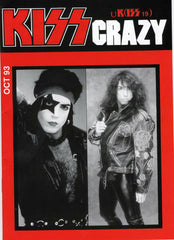 "1993 October U.K. IMPORT OFFICIAL 'KISS CRAZY"" FANZINE No. 19"" COMPLETE! MINT!"
