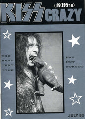 "1993 July U.K. IMPORT OFFICIAL 'KISS CRAZY"" FANZINE No. 18"" COMPLETE! MINT!"