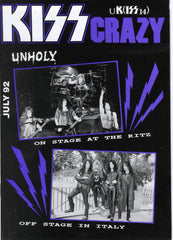 "1992 July U.K. IMPORT OFFICIAL 'KISS CRAZY"" FANZINE No. 14"" COMPLETE! MINT!"