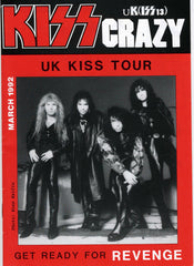 "1992 March U.K. IMPORT OFFICIAL 'KISS CRAZY"" FANZINE No. 13"" COMPLETE! MINT!"