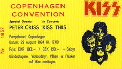 "1994 Original Copenhagen, Denmark (Unused) ""KISS CONVENTION"" SOUVENIR TICKET! MINT!"