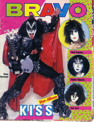 "1982 HTF GERMAN IMPORT ORIGINAL BRAVO MAGAZINE'S ""KISS 12-PAGE MINI-MAGAZINE INSERT""! EX+++!"