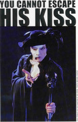 "1998 HTF U.S. ORIGINAL 2-SIDED TICKETMASTER 'PAUL STANLEY AS THE PHANTOM OF THE OPERA POSTCARD SIZE ADVERT"" MINT!"