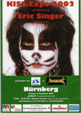 "2002 Original German Import ""2002 NURNBERG KISS EXPO with ERIC SINGER"" PLAYBILL POSTER! MINT!"