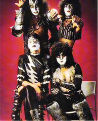"1996 HTF ORIGINAL U.K. IMPORT 2-SIDED 'KISS 8"" x 10"" PHOTOCARD""! MINT!"
