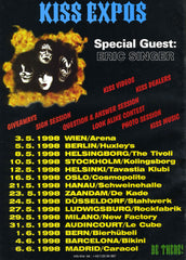 "1998 AUSTRIAN IMPORT ""KISS EXPO EUROPEAN TOUR POSTER!"" MINT!"