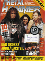 "1994 March GERMAN IMPORT ORIGINAL 'METAL HAMMER"" MAGAZINE! COMPLETE! MINT!"