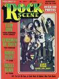 "1975 KISS U.S.ORIGINAL 'ROCK SCENE"" MAGAZINE WITH 1st KISS COVER! COMPLETE! EX+++!"