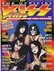 1996 April U.S.ORIGINAL 'THE OFFICIAL KISS ALIVE WORLDWIDE 1996/1997 TOUR MAGAZINE! (ARENA EDITION) COMPLETE! with BIG PULL-OUT POSTERS! MINT!