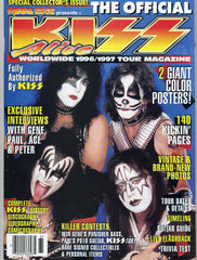 1996 April U.S.ORIGINAL 'THE OFFICIAL KISS ALIVE WORLDWIDE 1996/1997 TOUR MAGAZINE! COMPLETE! with BIG PULL-OUT POSTERS! MINT!