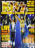 "2000 Winter U.S. ORIGINAL 'THE OFFICIAL KISS FAREWELL PHOTO ALBUM"" MAGAZINE! COMPLETE! with BIG PULL-OUT POSTERS! MINT!"