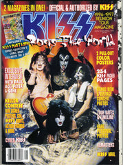 "1997 Spring U.S.OFFICIAL 'KISS ROCKS THE WORLD"" MAGAZINE! COMPLETE! with BIG PULL-OUT POSTERS! MINT!"