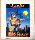 "2013 ACE FREHLEY PERSONALLY AUTOGRAPHED ""1995 ATLANTA KISS KONVENTION T-SHIRT TEST PRINT""! AWESOME PIECE! ONLY (2) EVER MADE! ONLY (1) AUTOGRAPHED! VERY FRAMABLE! MINT!"