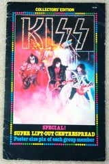 "1980 AUCOIN MANAGEMENT, INC. AUSTRALIAN IMPORT MEGA-RARE ORIGINAL 'COLLECTTOR'S EDITION KISS SPECIAL"" SUPER LIFT-OUT CENTERSPREAD MAGAZINE! COMPLETE! EX!"