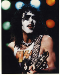 "1982 U.S. Creatures of the Night Tour ""PAUL LIVE ON STAGE ver. 2"" FULL COLOR GLOSSY PHOTO! MINT!"