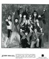 "1999 New Line Cinema ""DETROIT ROCK CITY CAST"" B/W PROMTIONAL-ONLY GLOSSY PHOTO! MINT!"