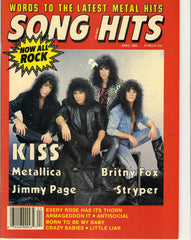"1989 April ""SONG HITS"" MAGAZINE! COMPLETE! EX+++"