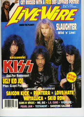 "1992 July ""LIVE WIRE"" MAGAZINE! COMPLETE! MINT!"