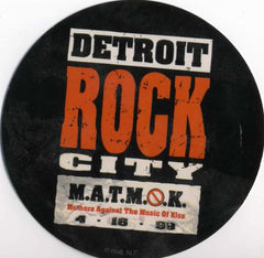 "1999 (Unused) KISS ""DETROIT ROCK CITY"" PROMOTIONAL-ONLY ROUND STICKER! MINT!"