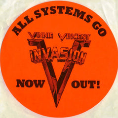 "1988 (Unused) Vinnie Vincent Invasion ""ALL SYSTEMS GO"" Promotional-Only Sticker! MINT!"