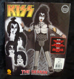 "2011 OOP Rubie's ""GENE SIMMONS"" Screen Printed Child 'L' Costume! COMPLETE! MINT!"