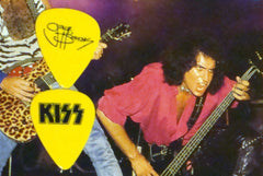 "1983 KISS ""GENE SIMMONS LICK IT UP TOUR"" GUITAR PICK MINT!"