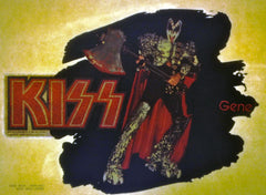 "1979 ORIGINAL OFFICIAL AUCOIN MANAGEMENT, INC. ""GENE SIMMONS/KISS LOGO IRON-ON"" (UNUSED) TRANSFER! MINT!"