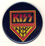 "1977 HOTLINE, INC. AUCOIN <AMAGEMENT, INC. ""KISS ARMY"" 3"" LARGE BUTTON! EX+++!"