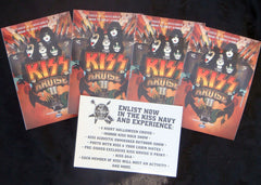 "2012 RARE OFFICIALLY LICENSED ""SET OF (5) KISS KRUISE II STICKERS!"" MINT!"