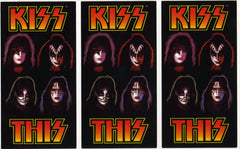 "2000 KISS ORIGINAL HTF U.S. (UNUSED STRIP OF 3) ""KISS THIS WINE STICKERS"" MINT!"