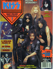 "1992 KISS U.S. 'MM PRESENTS A TRIBUTE TO KISS"" MAG. W/GIANT KISS POSTER! MINT!"