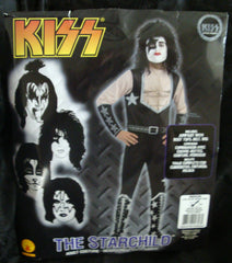 "2011 OOP Rubie's ""PAUL STANLEY"" Screen Printed Adult 'M' Costume! COMPLETE! MINT!"