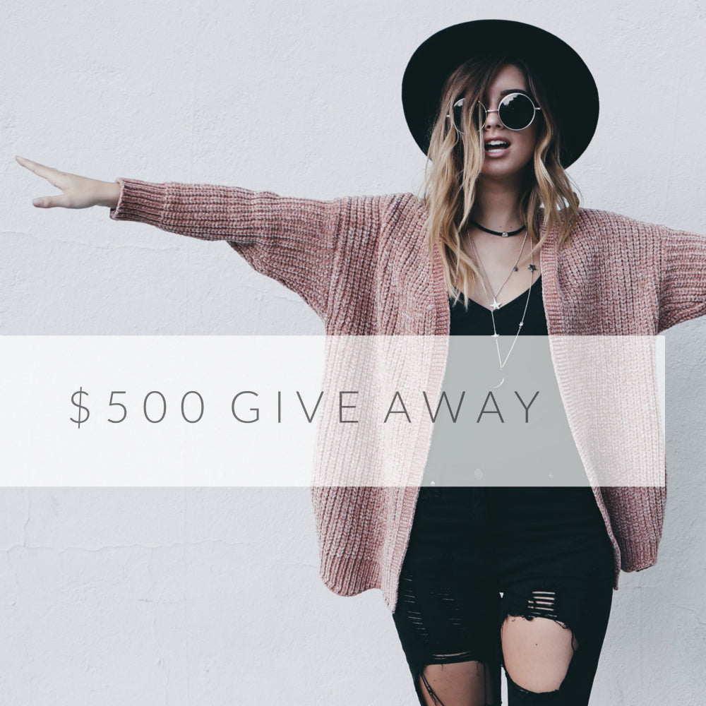 $500 FALL WARDROBE GIVEAWAY in free clothes!