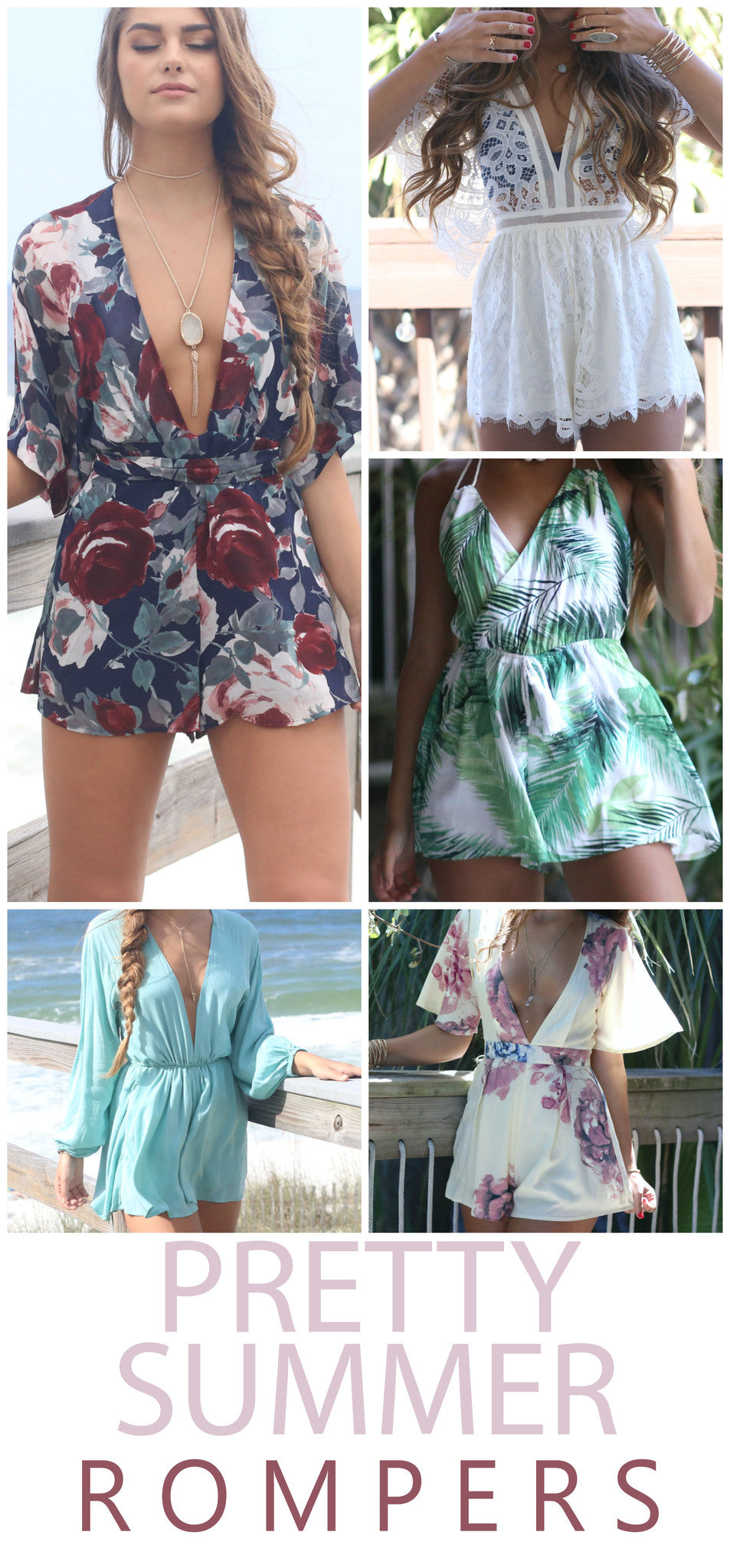 Pretty Summer Rompers