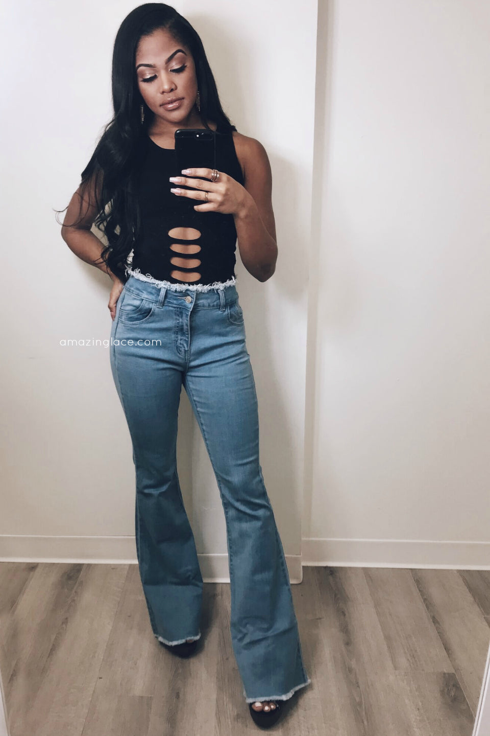 BELL BOTTOMS AND BODYSUIT OUTFIT