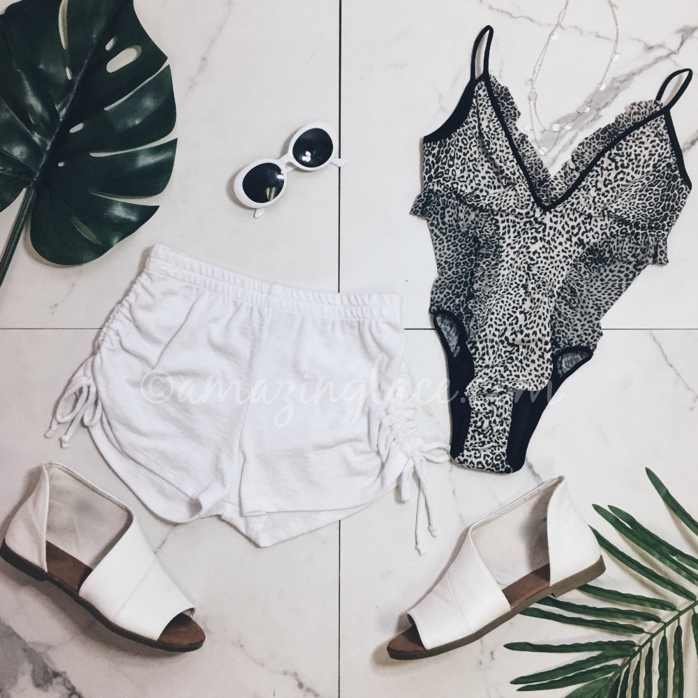 CHASER LEOPARD SWIM AND SHORTS OUTFIT