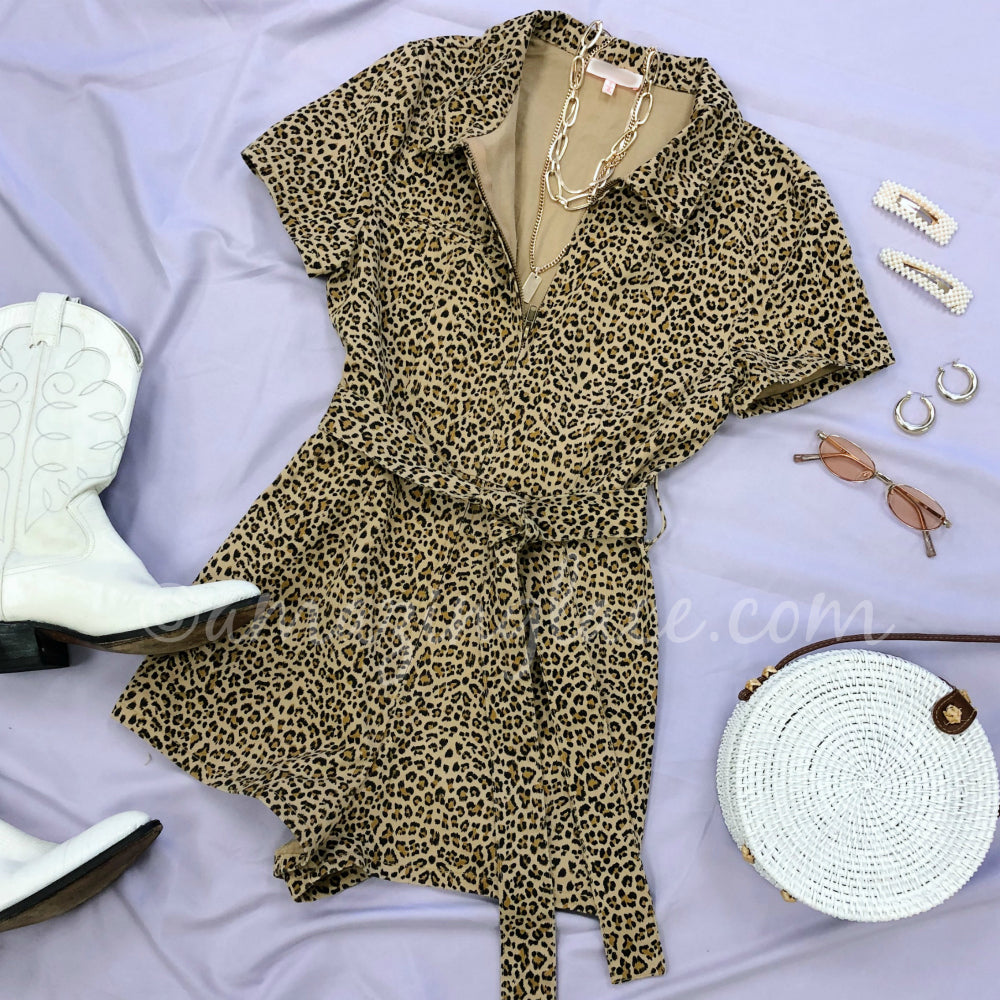 LEOPARD ROMPER AND VINTAGE BOOTS OUTFIT