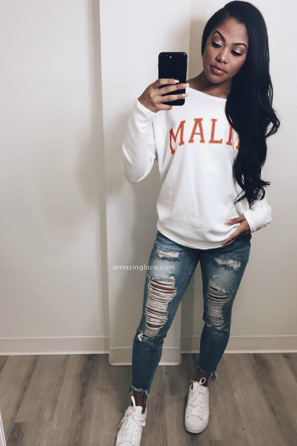 MALIBU TOP AND JEANS OUTFIT