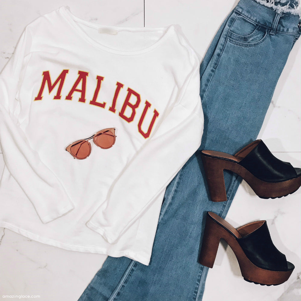 MALIBU TOP AND BELL BOTTOMS OUTFIT WITH SUNNIES