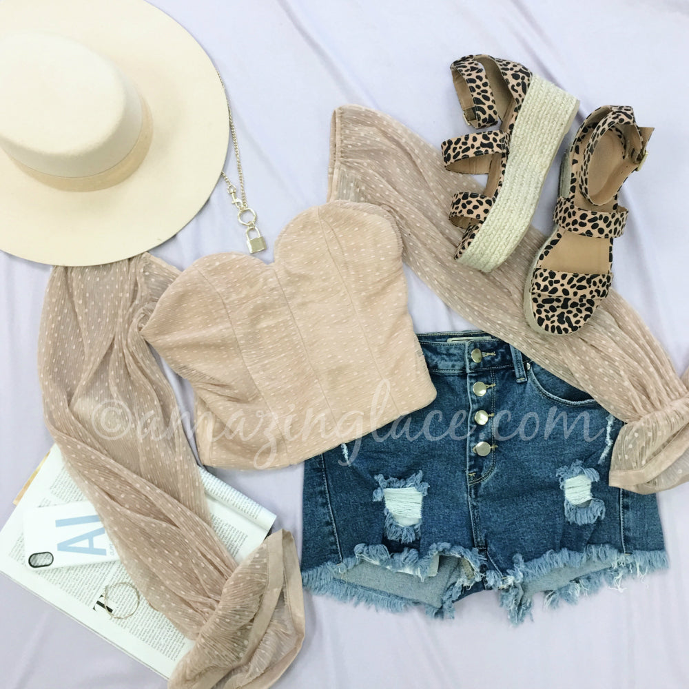 NUDE TOP AND LEOPARD ESPADRILLES OUTFIT