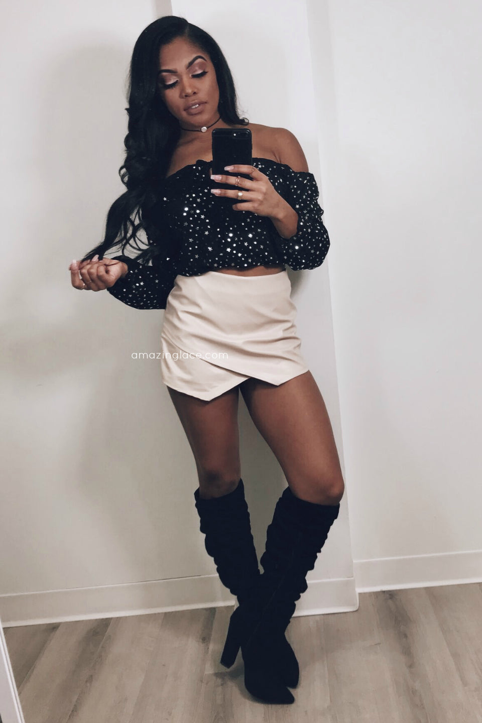 STAR CROP TOP AND SKORT OUTFIT