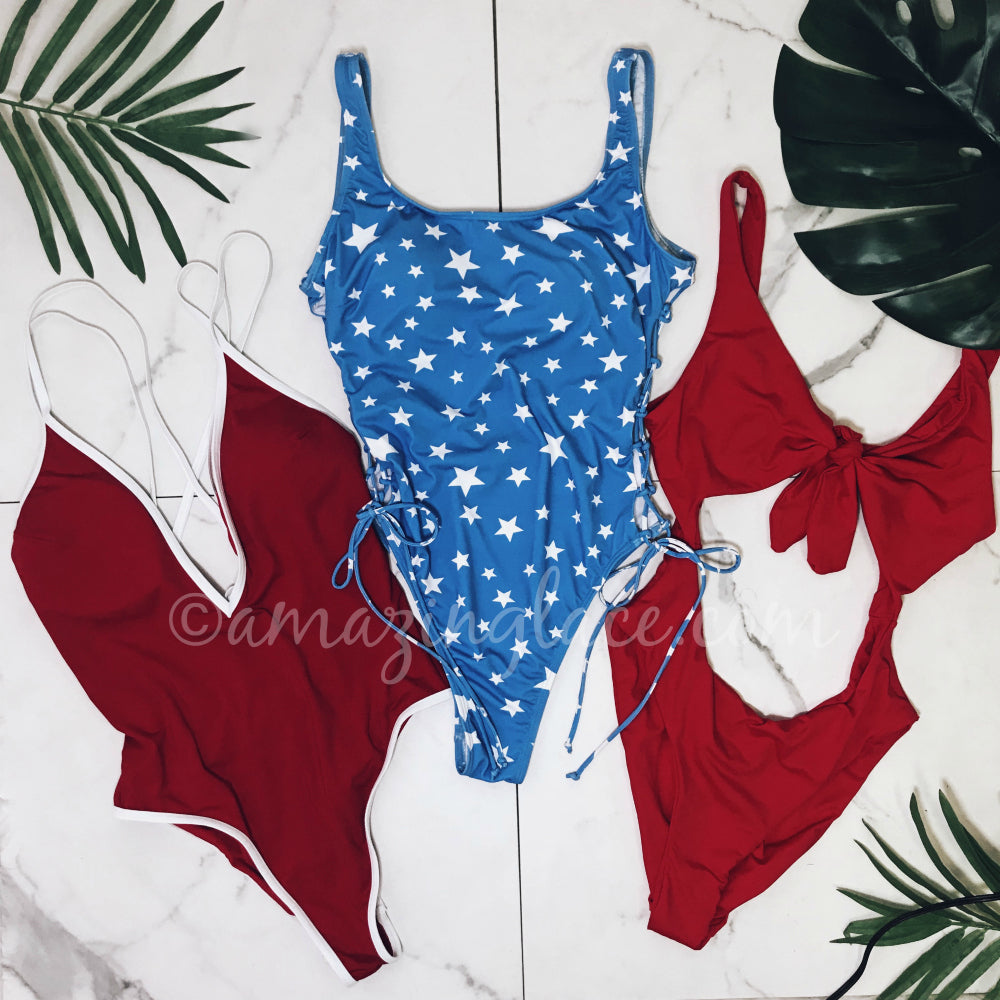RED WHITE AND BLUE SWIMSUIT OUTFITS